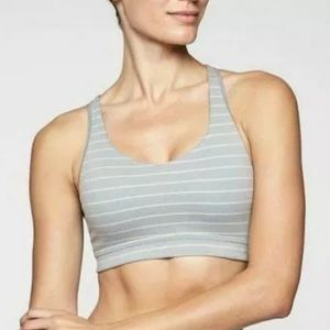 Athleta Stripe Transcendence Bra Size Small